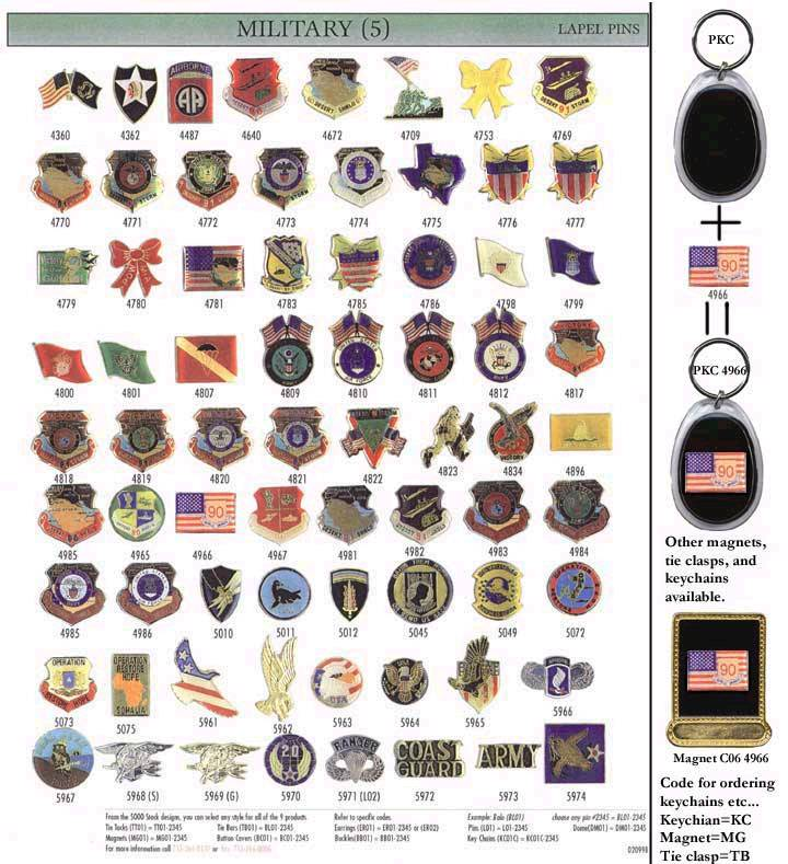 pins from military - photo #29